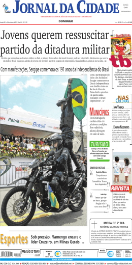 MunIcípIos - Jornal da Cidade