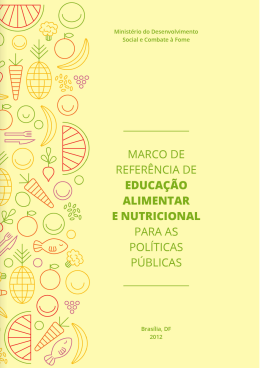 Marco de Referência de EAN para as Políticas Públicas