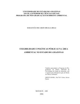 EXIGIBILIDADE E POLÍTICAS PÚBLICAS NA ÁREA AMBIENTAL