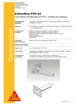 S-Overflow PVC - Sika Portugal