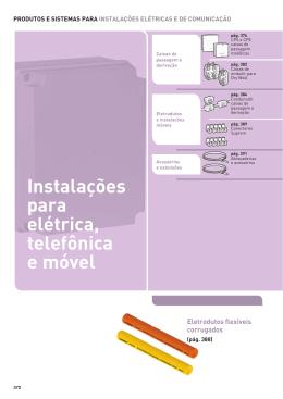 Instalações para elétrica, telefônica e móvel