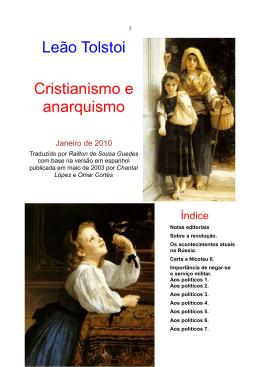 Leão Tolstoi Cristianismo e anarquismo