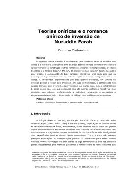 Teorias Oníricas e O Romance Onírico de Inversão de Nuruddin Farah