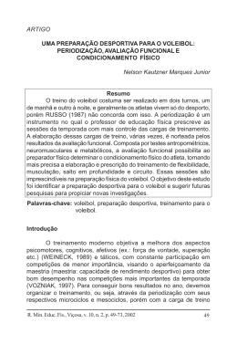 Voleibol: periodização, avaliação e condicionamento físico