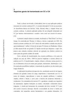 3 Aspectos gerais da transmissão em CC e CA - Maxwell - PUC-Rio