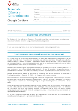 Consentimento Informado Cirurgia Cardíaca