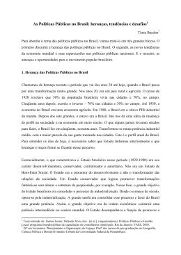 As Políticas Públicas no Brasil