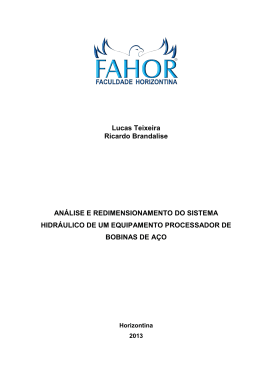 análise e redimensionamento do sistema hidráulico de um