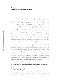 3 Provas de Carga Instrumentadas - Maxwell - PUC-Rio