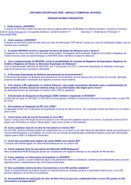 SISCOMEX EXPORTAÇÃO WEB – MÓDULO COMERCIAL (NOVOEX)