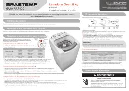 GUIA RÁPIDO Lavadora Clean 8 kg