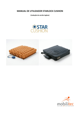 MANUAL DE UTILIZADOR STARLOCK CUSHION