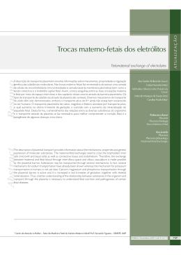 pág.737 Trocas materno-fetais dos eletrólitos