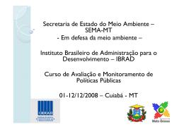 Indicadores Ambientais (Curso) - Secretaria do Meio Ambiente e