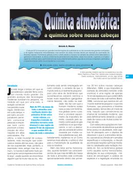 Química Atmosférica: A Química sobre nossas Cabeças
