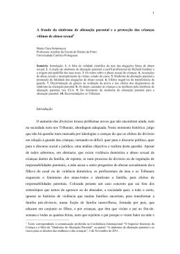 A fraude da SAP e a protecção das crianças vítimas de abuso sexual