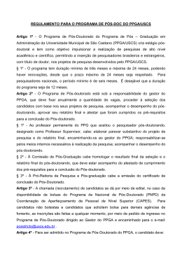 regulamento do programa de pos ppga uscs