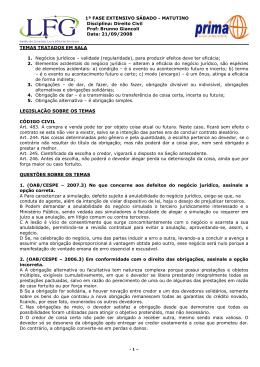 DIREITO CIVIL - OAB1FASE - EXTENSIVO - SÁBADO