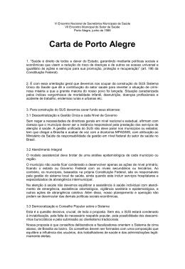 Carta de Porto Alegre