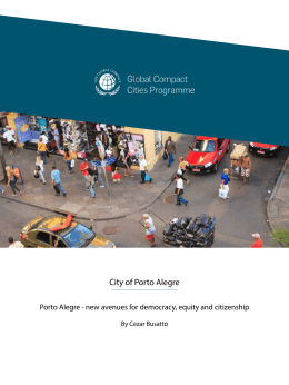 City of Porto Alegre - The Cities Programme