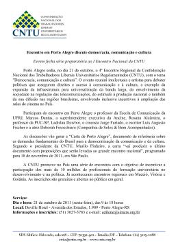 Encontro em Porto Alegre discute democracia, comunicação