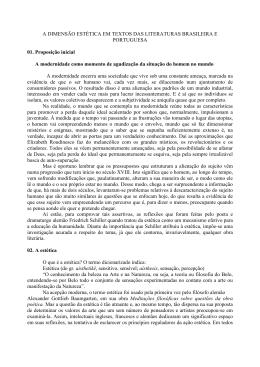 A dimensão estética em textos das literaturas brasileira