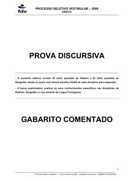 Prova Discursiva 2008