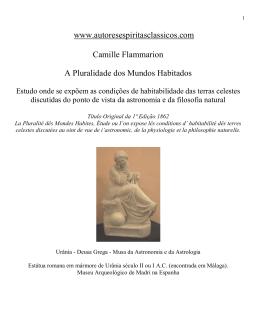 Camille Flammarion A Pluralidade dos Mundos Habitados