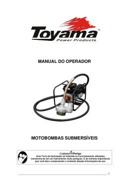 MANUAL DO OPERADOR MOTOBOMBAS SUBMERSÍVEIS