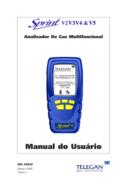 Manual do Usuário - Crowcon Detection Instruments
