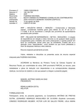 Processo nº. : 10680.018522/99-03 Recurso nº. : 106