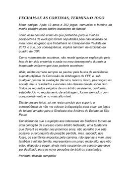 FECHAM-SE AS CORTINAS, TERMINA O JOGO