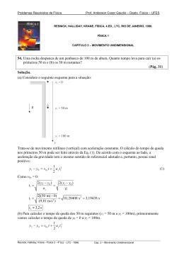 Problemas Resolvidos de Física