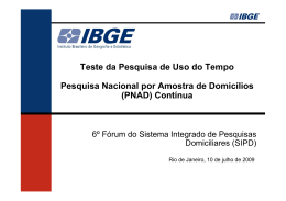 (Microsoft PowerPoint - Uso do Tempo - 6º Forum SIPD)