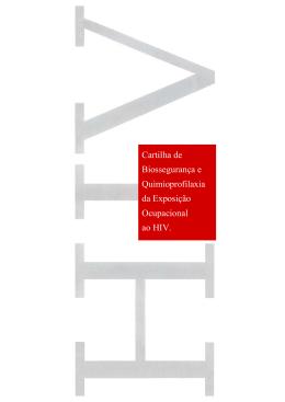 Cartilha de Biossegurança e Quimioprofilaxia da Exposição