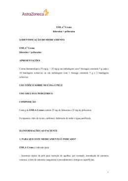 EMLA® Creme lidocaína + prilocaína I