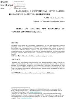 Habilidades e competencias do docente