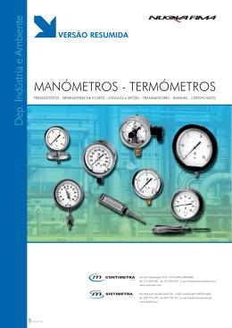 Catálogo Pressão e Temperatura
