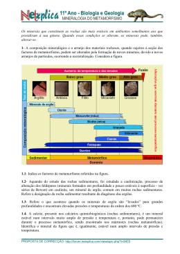 MINERALOGIA DO METAMORFISMO