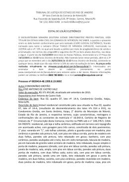TRIBUNAL DE JUSTIÇA DO ESTADO DO RIO DE JANEIRO 8ª Vara