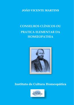 Conselhos clínicos ou a prática elementar da homoeopathia