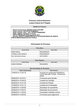 1 Processo Judicial Eletrônico Justiça Federal da 5ª Região