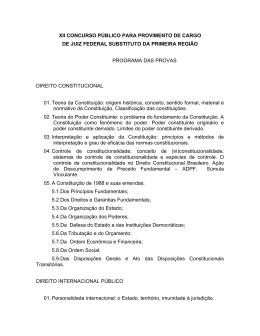XII CONCURSO PBLICO PARA PROVIMENTO DE CARGO