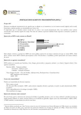 DOENÇAS SEXUALMENTE TRANSMISSÍVEIS (DSTs)