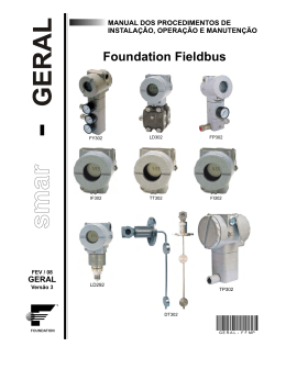 Foundation Fieldbus - Manual Geral