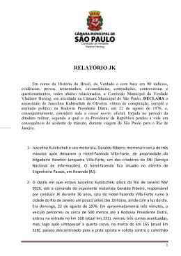 relatório jk - Gilberto Natalini SP