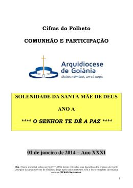 COMUNHÃO E PARTICIPAÇÃO - Arquidiocese de Goiânia