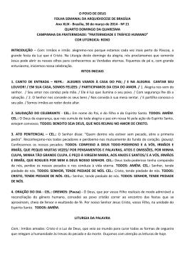 IV Domingo da Quaresma - Arquidiocese de Brasília