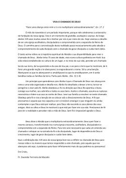 VIVA O CHAMADO DE DEUS! - Catedral Metodista de Petrópolis