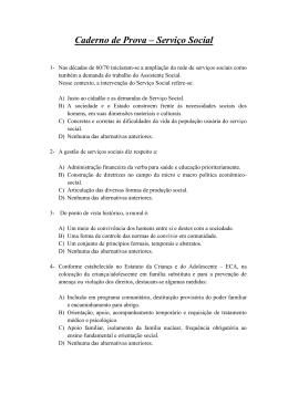 Prova – Serviço Social - Defensoria Pública do Estado de Sergipe